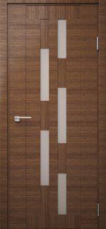 Двері Модель DEKO-08 дуб amber line зі склом