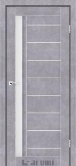 Межкомнатные двери Двері Bordo Дарумі бетон сірий скло сатин