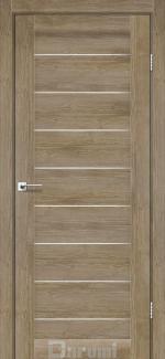 Межкомнатные двери Двері Leona Дарумі горіх бургун скло сатин