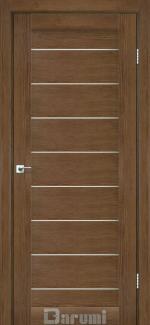 Межкомнатные двери Двері Leona Дарумі горіх роял скло сатин