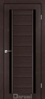 Межкомнатные двери Двері Madrid Дарумі венге панга скло чорне