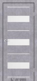Межкомнатные двери Marsel Дарумі бетон сірий скло сатин