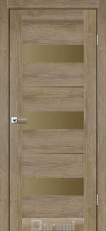 Межкомнатные двери Marsel Дарумі горіх бургун скло бронза