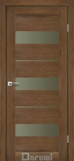 Межкомнатные двери Marsel Дарумі горіх роял скло бронза