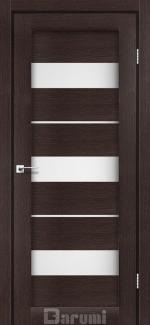 Межкомнатные двери Marsel Дарумі венге панга скло сатин