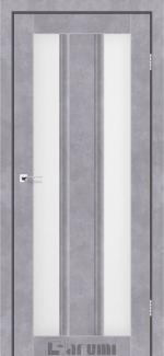 Межкомнатные двери Selesta Дарумі бетон сірий скло сатин