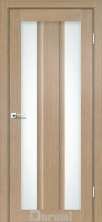 Межкомнатные двери Selesta Дарумі дуб натуральний скло сатин