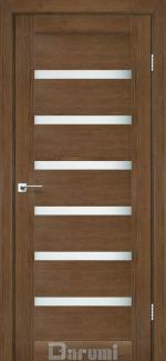 Межкомнатные двери Vela Дарумі горіх роял скло сатин