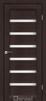 Межкомнатные двери Vela Дарумі венге панга скло сатин
