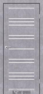 Межкомнатные двери Двері Versal Дарумі бетон сірий скло сатин