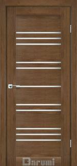 Межкомнатные двери Двері Versal Дарумі горіх роял скло сатин