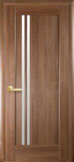 Межкомнатные двери Двери Делла Новый Стиль золотая ольха делюкс стекло Сатин
