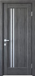 Межкомнатные двери Делла Новый Стиль грей делюкс New стекло Сатин