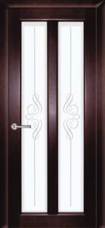 Межкомнатные двери Двері Дельта НСД дуб графіт зі склом