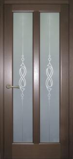 Межкомнатные двери Двери Дельта НСД дуб графит со стеклом