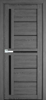 Межкомнатные двери Диана Новый Стиль дуб серый стекло черное