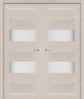 Двері Leador Canneli дуб латте скло Сатін