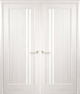 Двері Новий Стиль Делла ясень делюкс скло Сатін