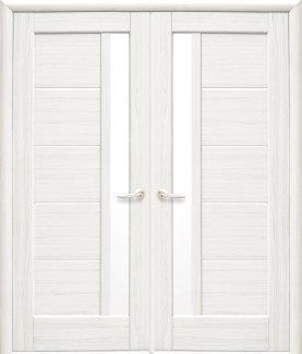 Двері Новий Стиль Грета ясень делюкс скло Сатін