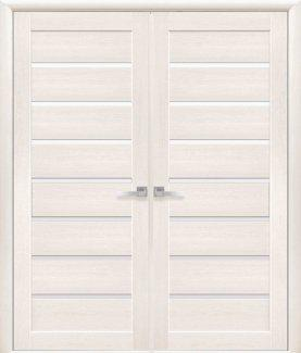 Двері Новий Стиль Леона дуб перлинний скло Сатін