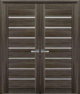 Двері Новий Стиль Леона кедр скло Сатін