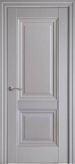 Межкомнатные двери Имидж Новый Стиль серая пастель премиум глухое с молдингом