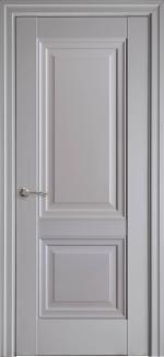 Межкомнатные двери Имидж Новый Стиль серая пастель премиум глухое без молдинга