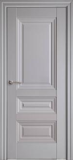 Межкомнатные двери Статус Новый Стиль серая пастель премиум глухое без молдинга