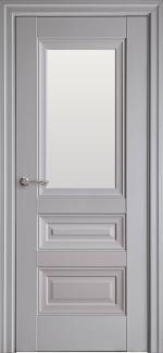 Межкомнатные двери Статус Новый Стиль серая пастель премиум глухое с молдингом
