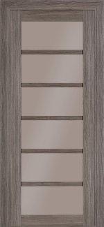 Межкомнатные двери Модель 307 Elit Термінус грей скло бронза