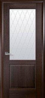 Двери Эпика Новый Стиль каштан со стеклом