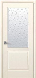 Межкомнатные двери Эпика Новый Стиль патина делюкс со стеклом Р2