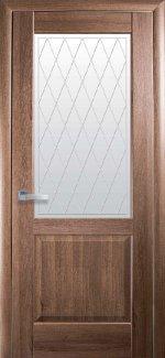 Межкомнатные двери Эпика Новый Стиль золотая ольха делюкс со стеклом Р2