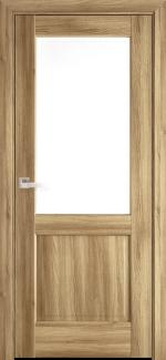 Межкомнатные двери Эпика Новый Стиль дуб золотой делюкс со стеклом Р2