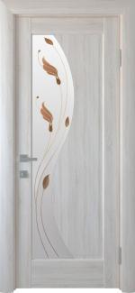 Двери Эскада Новый Стиль ясень Делюкс со стеклом Р1