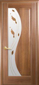 Двери Эскада Новый Стиль золотая ольха Делюкс со стеклом Р1