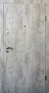 Входные двери Двери Qdoors Эталон Эста бетон светлый с двух сторон