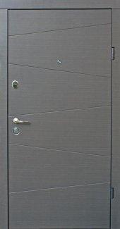Двери Qdoors Эталон Нео венге Серый Горизонт с двух сторон