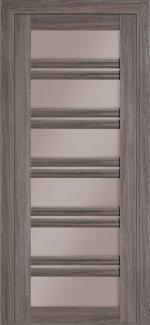 Межкомнатные двери Милан Fashion Термінус грей скло бронза