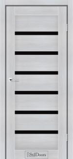 Межкомнатные двери Двери Florida StilDoors кремовое дерево стекло черное