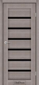 Межкомнатные двери Двери Florida StilDoors трюфель стекло черное