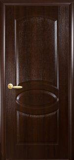 Двери Фортис R Овал Новый Стиль каштан Делюкс глухое