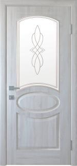 Двери Фортис R Овал Новый Стиль ясень Делюкс со стеклом Р1