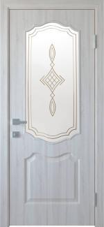 Межкомнатные двери Вензель Новый Стиль ясень делюкс со стеклом Р1