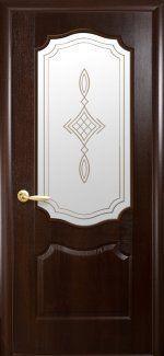 Межкомнатные двери Вензель Новый Стиль каштан делюкс со стеклом Р1