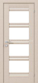 Двери Fresca Angela беленый дуб со стеклом