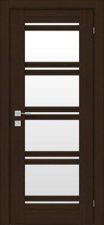 Межкомнатные двери Fresca Angela Родос орех борнео со стеклом