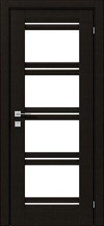 Двери Fresca Angela венге шоколадный со стеклом