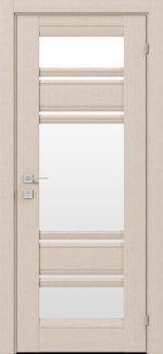 Двери Fresca Donna беленый дуб со стеклом