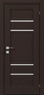 Межкомнатные двери Fresca Donna Родос венге шоколадный полустекло